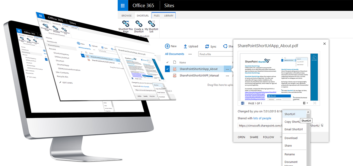 SharePoint ShortUrl Office 365